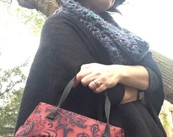 Red and Black Paisley Mini Doc Bag
