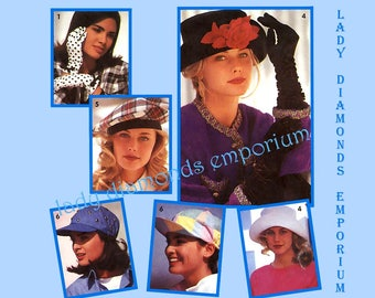 Simplicity 7932 Womens Gloves in 3 Lengths & Hats in 3 Sizes with Optional Lining Ladies Fashion Accessories Vintage Sewing Pattern Uncut FF
