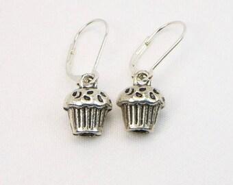 Cupcake Earrings - Birthday Gift - Dangle Earrings - Gift For Her - Bakery Jewelry