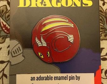 Smol Dragons - Red Dragon Enamel Pin