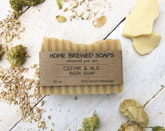 Discontinued! Homemade Beer Soap, Homemade Soap, Beer Lovers, Gift for Men, Cedar Ale Beer Soap, Man Soap, Beer Gift, Craft Beer Soap, Soap