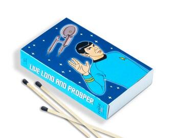 Spock Matchbox, Hand Illustration, Gift, Stocking Stuffer (Item 617)