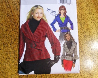 Avant Garde Double Breasted Jacket w/ Wide Collar / EASY to Sew Fall Coat - CHOOSE Your Size - UNCUT ff Sewing Pattern Butterick 5087