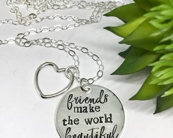 Gifts for Bestfriends - Friendship Gift Ideas - Christmas Gifts for Friends - The Charmed Wife - Thank You Gifts - Sterling Silver Stamped