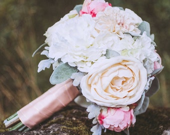 Custom Bridal Bouquet, Toss Bouquet & Boutonniere - Sample Pricing