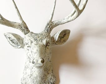 Faux Aged Finish Faux Taxidermy Deer Head wall mount Faux Taxidermy animal wall hanging stag head faux animal head wall sculpture faux deer