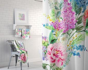 Shower Curtain Shabby Chic, Shower Curtain Floral, Shower Curtains,  Bathroom Set, Bath Towels, Bath Towel, Bath Mat