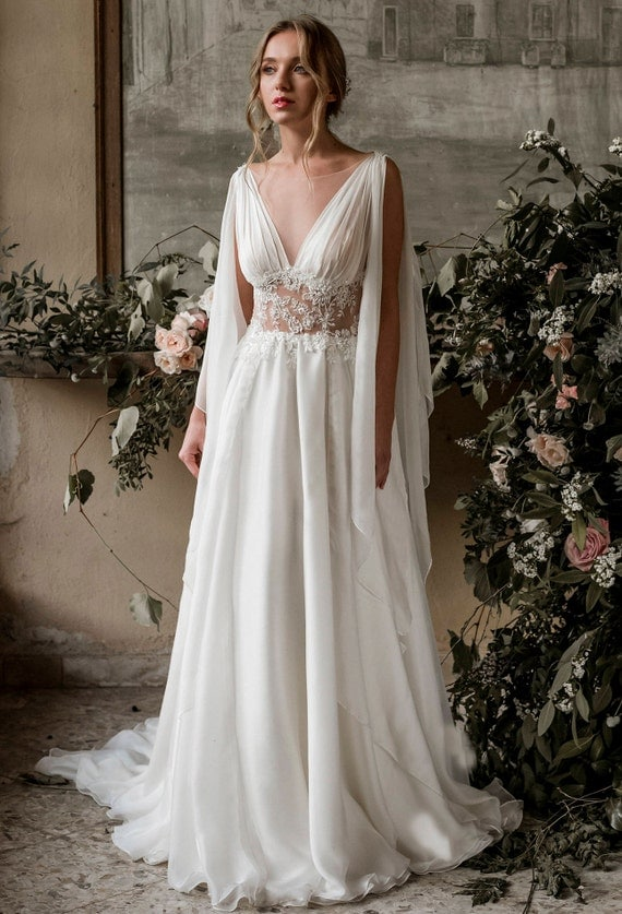 Grecian Wedding Dress Grecian Wedding Gown Grecian Bridal