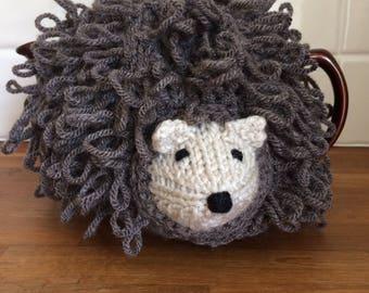 Hand Knitted Hedgehog Tea Cosy