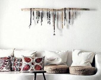 Berry Knit Pouf Ottoman, Floor Cushion, Round Floor Pillow, Valentine Gift, Nursery Footstool, Crochet Pouffe, Modern Rustic Decor