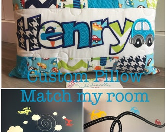 Custom pillow, match my room, personalized pillow case, 12x18 inches