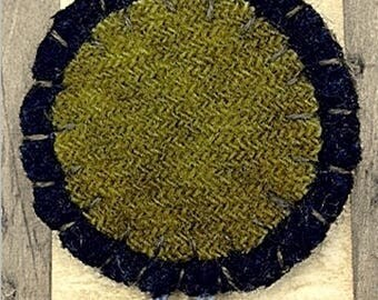 Kit and Pattern: Small Penny Bookmarker Wool Pattern by Primitive Pieces by Lynda