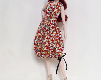 Summer dress for Barbie, Fashion Royalty and similar size dolls