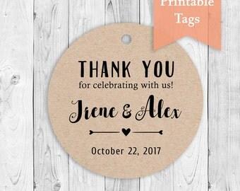 DIY Printable Favor Tags Printable Wedding Thank You Tags