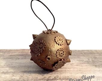 Steampunk Christmas Ornament, Gear Ornament, Christmas Tree Ornament, X-Mas Ornament, Steampunk Gifts, Steam punk Ornament