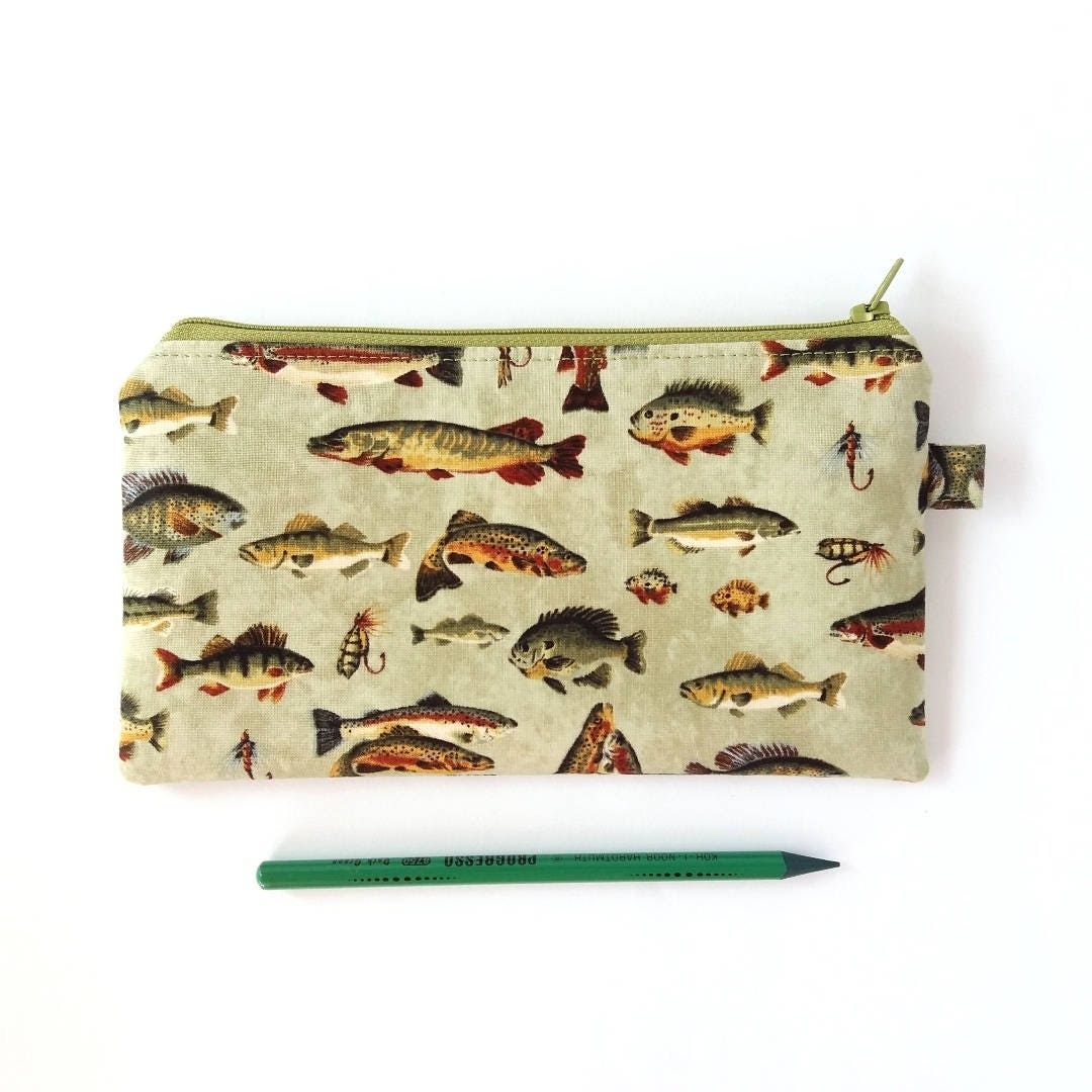 Boys pencil case fish pencil bag boy zipper pouch for Fish pencil case