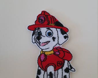 Marshall Paw Patrol iron on or sew on patch Pat Patrouille patch Paw Patrol appliqueDog iron on patchDog sew on patchCartoon patchKids patch