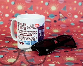 Dr Who,  inspired quote, Mug, gift, geek, doctor who, timelord, Tea, Coffee. Me time. Tardis. The Doctor. Gift for Dr Who fans