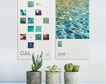 Calendar 2018 Water Textures, Nautical Calendar, Abstract Photography, Calendar Water Art, Cool Calendar 2018, Wall Decoration