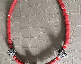 Necklace, ethnic necklace, light necklace, bohochic necklace, handmade