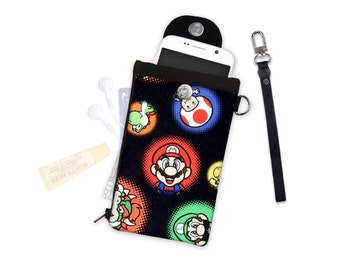 Nintendo Super Mario Bowser Clutch or Crossbody ID Wallet Phone Case Wallet Travel Wallet iPhone Samsung Crossbody Bag Adjustable Strap