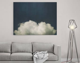 Cloud Painting, Abstract Art Print, Abstract Giclee, Blue White, Modern Art Abstract, Minimalist Painting, Expressionist Art Cloudscape