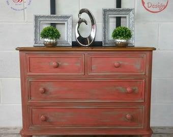 Small Pine Chest of Drawers, Bedside Table, Bedroom Storage