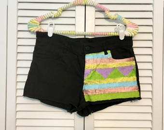 Pastel upcycled shorts!