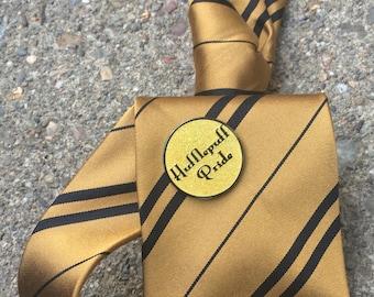 Yellow Hufflepuff Pride Pin, Hogwarts Pin, Harry Potter Pin