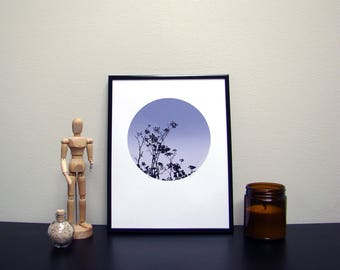 Plant And The Sky Screen Print