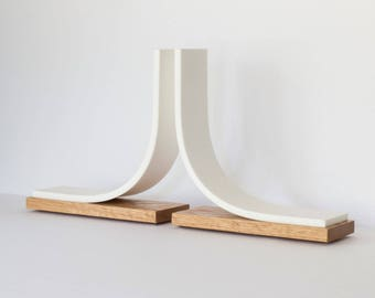 Bookends, Oak Bookends, Kitchen Bookends, Book End, Decorative, White Bookends, Modern, Corian, Bookend Minimalist Bookend Architectural