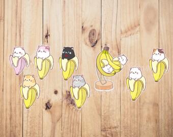 Bananya cat stickers