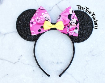 Pink Minnie Mouse Ears, Mickey Mouse Ears, Party Mickey Ears, Minnie Ears, Mickey Ears, Disneyland Ears, Party Hat, Pink Mickey Mouse Ears