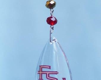 FLORIDA STATE University *Logo* Crystal MAGNETIC Ornament,Fsu Home Decor,Seminoles Gifts,Noles,Fsu Ornament,Fsu gift,Florida state