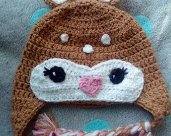 Cute fawn hat for children