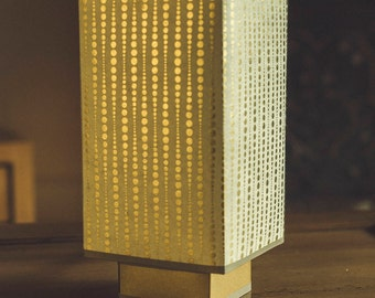Lamp QUADRA ask gold patterns