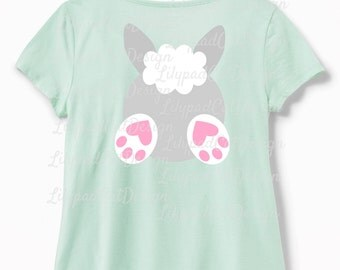 Easter Bunny SVG, bunny svg, front & back included. Easter svg , birthday shirt svg, bunny cut file, cute bunny, birthday decorations, DXF