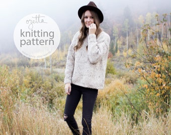 Knitting Pattern / Chunky Sweater / THE CABIN SWEATER