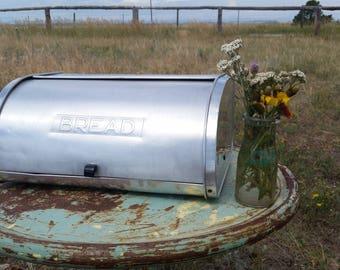 Aluminum Kromex Bread Box Mid Century Metal Bread Box Kitchen Farm House Decor