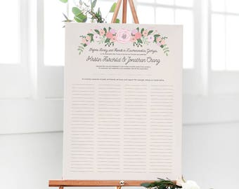 Rustic Quaker Marriage Certificate - Wedding Guest Book Alternative - Marriage Contract - Rustic Guest Book - The Bailey Set - Free Shipping