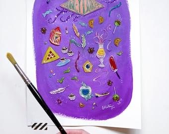 Honeydukes Fine Art Print - Harry Potter Art - Home Decor - Wall Art - Gouache Painting Art Print - 8x10