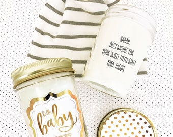 Baby Shower Gift for Mom - Welcome Baby Gift for Mom To Be Gift Candle - Baby Shower Card Funny - Hello Baby Shower Candle  (EB3178FB)