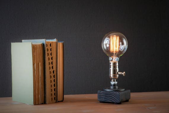 Industrial Lighting - Steampunk Lamp - Table Lamp - Edison Light - Vintage Light - Pipe Lamp - Bedside Lamp - Rustic Lighting - Loft light
