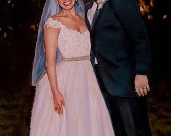 Wedding portrait Custom couple portrait Couple custom drawing couple drawing custom Couple personalized painting