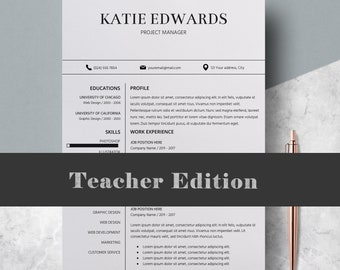 Teacher Resume Template, Professional Resume Writing Services, Resume For  Pages, Professional Resume Design  Resume Design Service