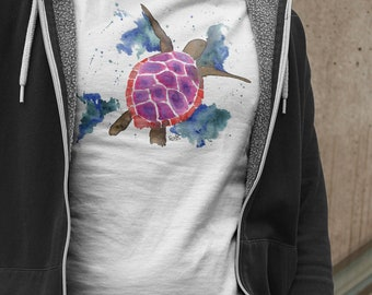 Mens Turtle T-Shirt, Sea Turtle Tshirt, Turtle Lover Shirt, Gifts For Him, Turtle Clothing, Man Gifts, Watercolour Turtle, Fathers Day