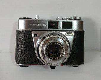 Kodak Camera, Retinette 1A, Schneider Kreuznach, Reomar, 1: 2.8 45mm, Prontor 300S, Leather Case, Vintage Collectible