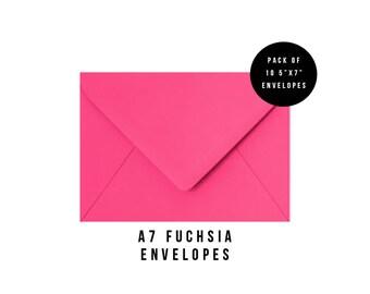 5x7 Hot Pink Envelopes