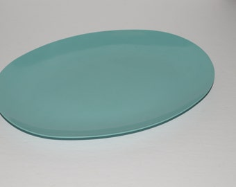 Vintage, Turquoise, MELMAC, Melamine Dinnerware, Turquoise, Ovale, Serving platter, Hard Plastic, Made in Canada, Turquoise blue, tray