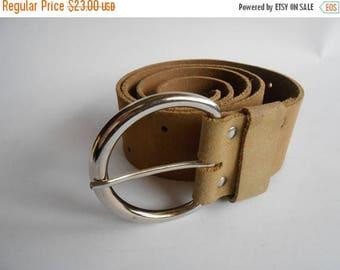 ON SALE Vintage Brown  Suede Leather Belt, 70s Suede  Leather Belt, Women's Leather Belt